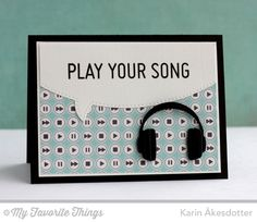 My Favorite Things headphones die...cool, I have the quote bubble die and the headphone die