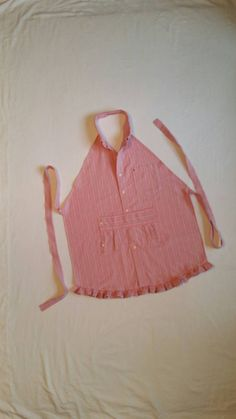 Check out this item in my Etsy shop https://www.etsy.com/listing/287588315/apron-womens-pink-stripe-from-mens-dress