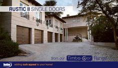 Have too many cars? Our client chose 5 Rustic sectional Garage doors for his home. www.doorzonesa.com