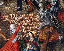 The Massacre of the Innocents (detail) by Lucas Cranach the Elder (ca. 1515), is the biblical narrative of infanticide by Herod the Great, the Roman-appointed King of the Jews. (National Museum in Warsaw)