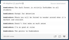 Dumbledore's logic: