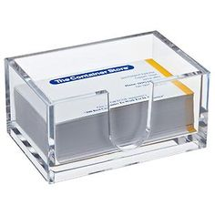 Acrylic desk accessories from Container store or Home Goods
