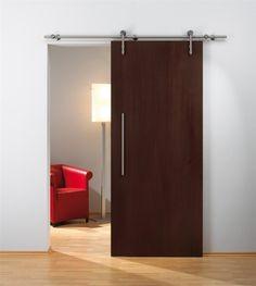 Porte à galandage en bois design