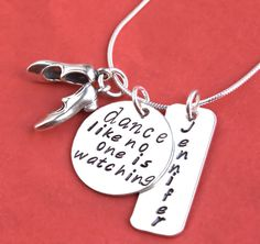 Tap Dance Personalized Necklace Hand Stamped by JessieGirlJewelry, $58.00