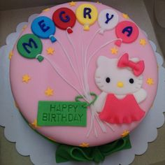 Hello Kitty Bday Cake #HelloKittyCake #FondantCake