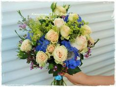 Bukiet ślubny :-) piękne róże, scabiosa, wax i alchemilla :-)