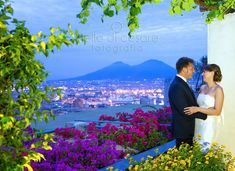 A beauteful #newlywed and a beautiful #view of #Naples from #hotelsanfrancescoalmonte!  #nellodicesarephotographer #wedding #Italy