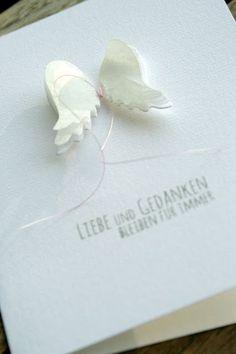 Trauerkarte für ein Frühchen...