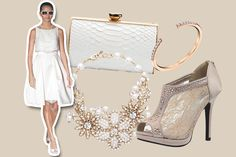 Wedding gown & accessories for a city hall wedding
