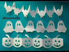 Manualidades. Cadenetas/guirnaldas con motivos de Halloween, muy fáciles...