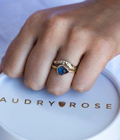 18k Trillion Blue Sapphire Ring - Audry Rose