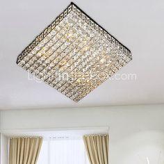 Lustre de Tecto Moderno em Cristal com 6 Luzes (220V-240V) | LightInTheBox