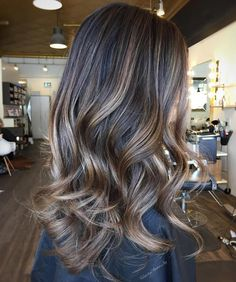 brown hair with ash blonde highlights