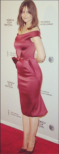 #Katieholmes in #Zacposen at the #tribecafilmfestival for the #premiere of #MsMeadows