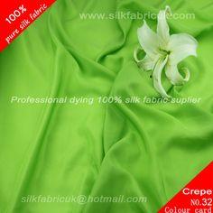 12mm silk crepe de chine fabric-grass green http://www.silkfabricuk.com/12mm-silk-crepe-de-chine-fabricgrass-green-p-362.html