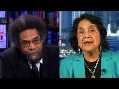 Bernie or Hillary? Cornel West & Dolores Huerta Debate After Sanders' Upset Win in Michigan - YouTube 3/9/2016