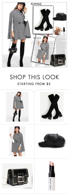 """romwe 6/VII"" by amina-haskic ❤ liked on Polyvore featuring Bobbi Brown Cosmetics and Maybelline"