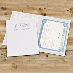 If you're looking for an unusual baby gift, how about our Embossed Birth Certificate Holder? These important and sentimental documents are so easily neglected and lost - but not anymore! With this thoughtful gift, proud parents will be able to keep their little one's certificate safe and sound for many years to come.