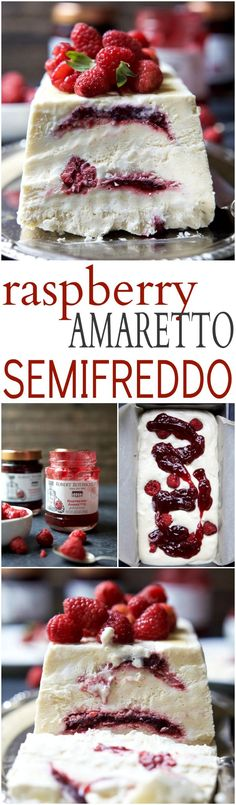 Indulgent Raspberry Amaretto Semifreddo, it's everything ice cream wishes it could be - light, creamy, and airy. This dessert is perfect for the summer and you'll love the secret sauce nestled inside every bite!| http://joyfulhealthyeats.com #glutenfree #ad #dairyfree