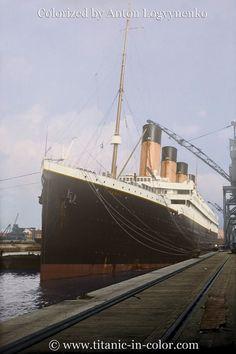 RMS Titanic in Southampton (colorized by Anton Logvynenko)