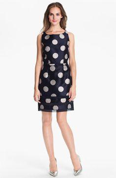 Taylor Dresses Polka Dot Sheath Dress available at Nordstrom
