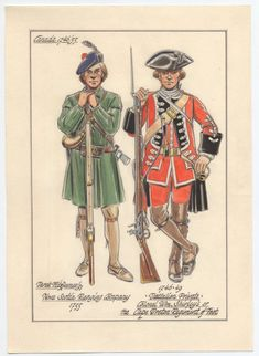 Nova Scotia Ranging Company, Ranger, 1755 & Colonel William Shirley's or the Cape Breton Regiment of Foot, Private of a Hat Company British Army Uniform, British Uniforms, British Soldier, American Revolutionary War, American War, Osprey Publishing, Military History, Military Art, Seven Years' War