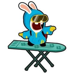surfing for a raving rabbid