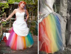 More dramatic rainbow crinoline wedding dress