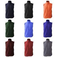 Jerzees Color Casual Winter Warm Zip up Fleece Gilet Vest Jacket /Bodywarmer #JerzeesColours #Vest