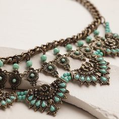 One of my favorite discoveries at WorldMarket.com: Antique Gold Statement Necklace