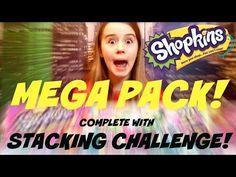 SHOPKINS SEASON 3 - Mega Pack and Shopkins Stacking Challenge! How many can I stack? - YouTube