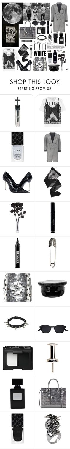 """""""the influence of the moon: glamorous punk"""" by nothingisnormal ❤ liked on Polyvore featuring Manic Panic NYC, McQ by Alexander McQueen, Gucci, Brunello Cucinelli, Emporio Armani, Christian Dior, Ardency Inn, Sonia Rykiel, Manokhi and Christian Koban"""
