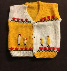 Hayvan Motifli Bebek Yeleği #crochet #knit #knitting #skirt