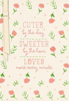 Share this Studio Ink baby congratulations card, covered in little pink flowers, with new parents to welcome a sweet baby girl.