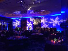 #Snowflake #lighting can be a great addition to your #event and is really popular in the winter time. Snowflake lighting is a type of texture lighting and there are many different types and patterns to choose from.  #eventlighting #winterwonderland #holiday #corporateevents #weddings