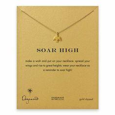 soar high thunderbird necklace, gold dipped - Dogeared