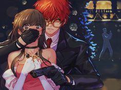 Mystic Messenger Characters, Mystic Messenger Fanart, Chica Anime Manga, Anime Guys, 707 X Mc, Seven Mystic Messenger, Luciel Choi, Saeran Choi, Jumin Han