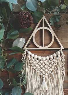 Deathly Hallows Dreamcatcher Wizard Decor Wizarding Decor | Etsy