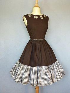vintage gingham dress