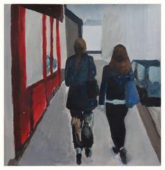 Walking in Paris painting    http://ellenamanda.blogspot.com