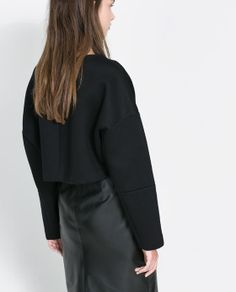 Image 3 of CROPPED SWEATER from Zara