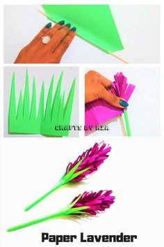 Make a beautiful paper lavender with these easy step by step instructions. Perfect craft for kids and adults. This is such an easy and beautiful DIY Flower idea and looks so realistic.Perfect Craft for Teens and tweens Crafts For Teens To Make, Spring Crafts For Kids, Paper Crafts For Kids, Diy And Crafts, Arts And Crafts, Paper Crafting, Diy Paper Crafts, Preschool Crafts, Easy Paper Flowers