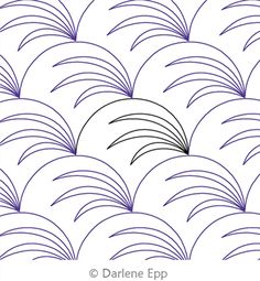 Sewing Quilts Digital Quilting Design Clamshell with Seagrass by Darlene Epp. Quilting Stencils, Quilting Templates, Longarm Quilting, Free Motion Quilting, Quilting Ideas, Modern Quilting, Quilting Stitch Patterns, Machine Quilting Patterns, Quilt Stitching