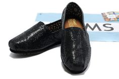 http://www.Toms.com/ Toms Glitter Shoes Women Black