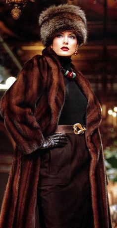 Russian sable fur coat. If I lived where it actually got cold...