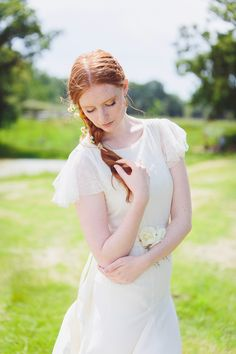 Meadow Festival Bride Shoot ~ Lace Willow Dress by Belle & Bunty