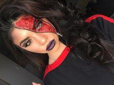 blood and guts theme day @ work 🎃 #halloweenmakeup #mua