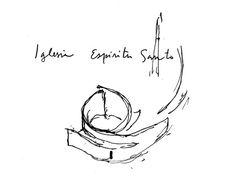 Capilla del Espíritu Santo,Croquis Detailed Drawings, Logs, Architectural Models, How To Plan, Architecture, Ph, Green, Saints, Holy Spirit