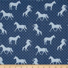 Michael Miller Equestrian Pony Up Denim from From Michael Miller Fabrics, this cotton print fabric is from the Equestrian collection and is perfect for quilting, home decor accents and apparel. Colors include shades of blue. Horse Fabric, Cat Fabric, Denim Fabric, Blue Green Nursery, Equestrian Collections, Horse Wallpaper, Fat Quarter Quilt, Blue Horse, Michael Miller Fabric