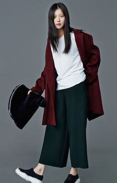 ღlechic | Low Classic F/W 14 Oversized Burgandy Coat